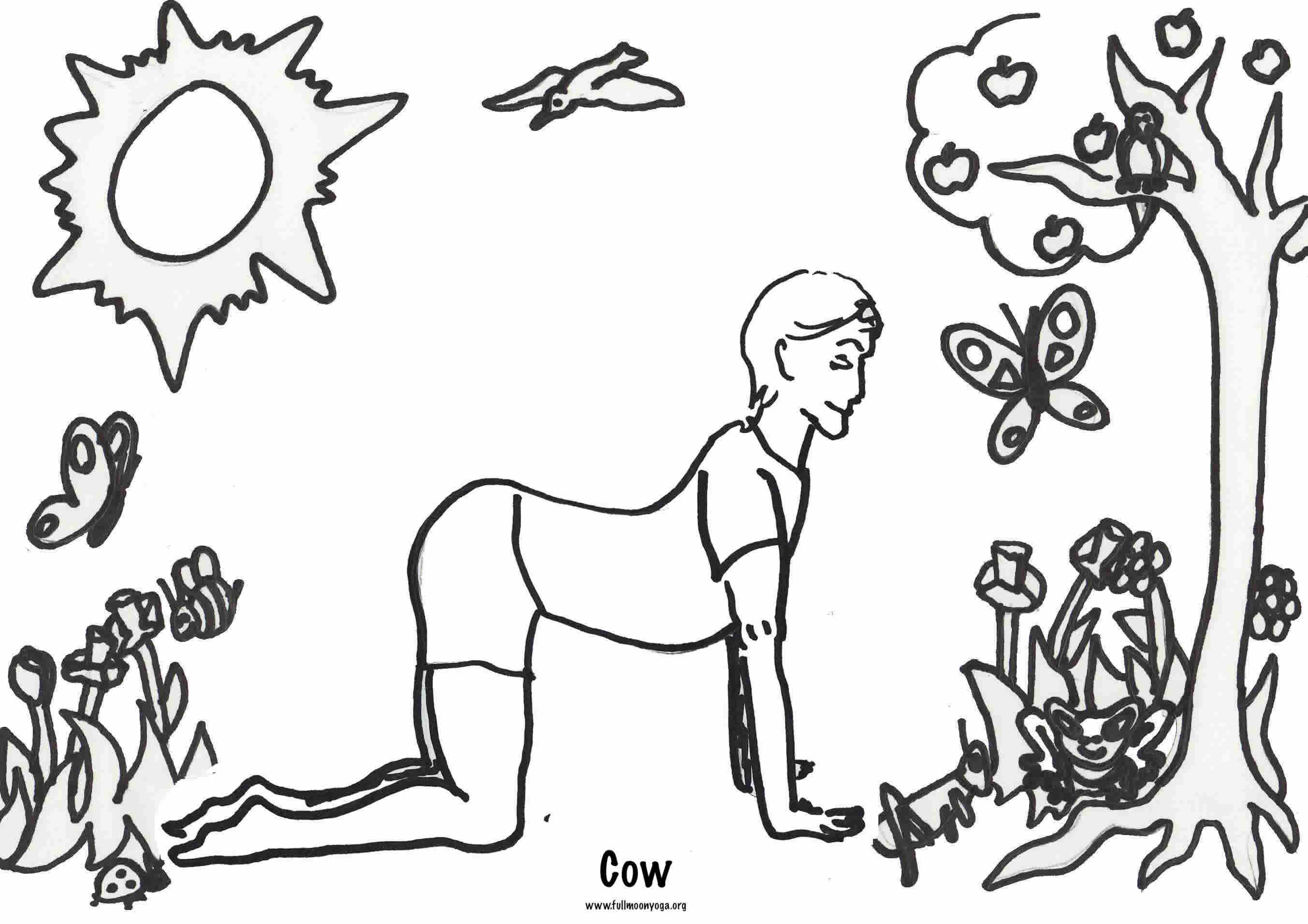 Coloring Pages For Yoga : Games fullmoonyoga