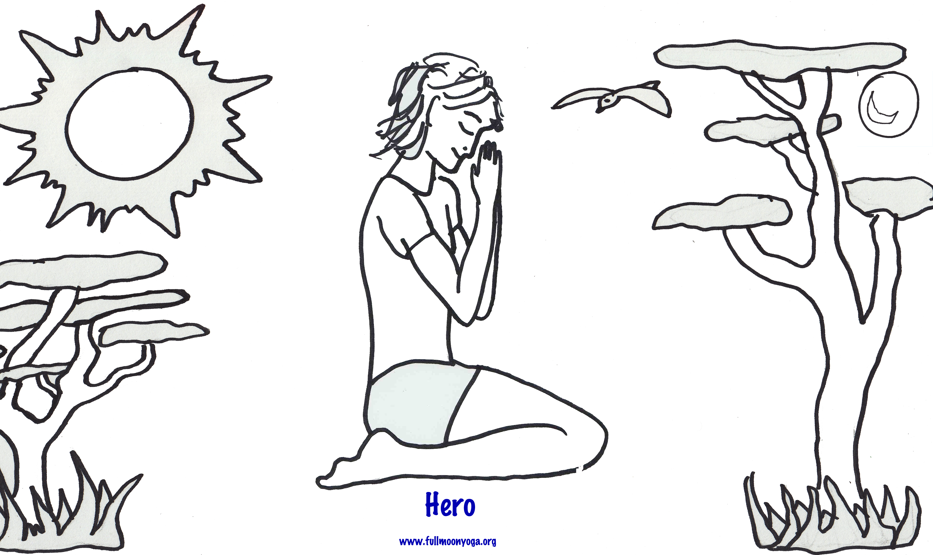 free kids yoga coloring pages - photo#28